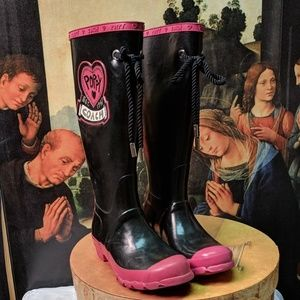 Coach rain boots 15 in high